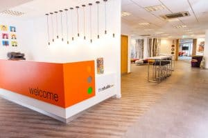 the studio venues meetings and events Leeds reception area