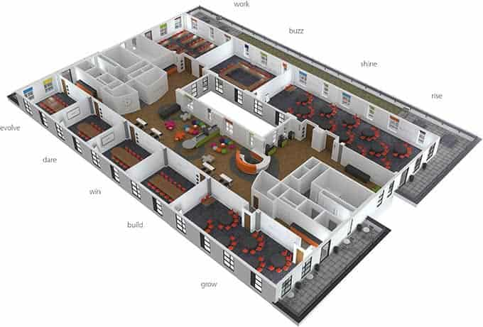 Floor two all rooms